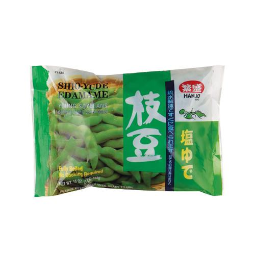 Hanjo Shioyude Frozen Edamame Slightly Salted 16 oz (454g)
