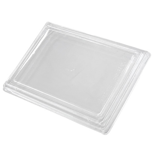"""Lids for Wooden Rectangular Takeout Bento Box 7.68"""" x 5.71"""" #87922 (50/pack)"""