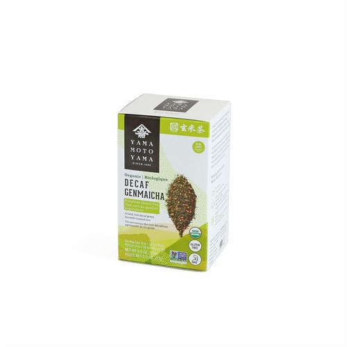 Yamamotoyama Organic Decaffeinated Premium Genmai-cha Green Tea 18 Tea Bags