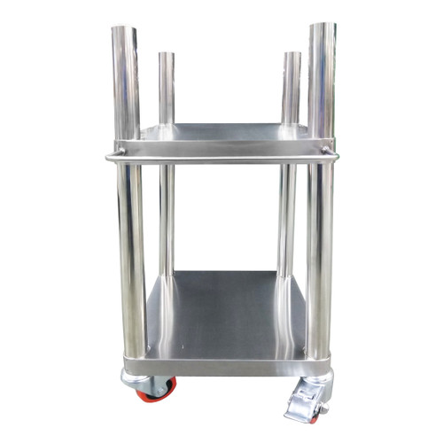 Stainless Steel Rice Warmer Stand with Wheels