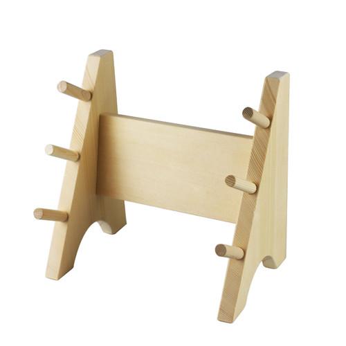 Katana Style Wooden Knife Rack for 3 Knives