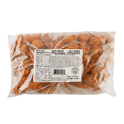 Frozen No-MSG Karaage Japanese Fried Chicken Pre-Cooked 4 lbs