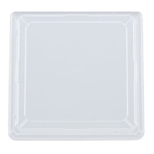 "Lids for Colorful Printed 4-Compartment Takeout Bento Box 9.5"" x 9.5"" #81573 (50/pack)"