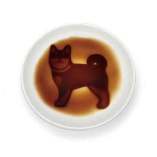 "[NEW] Alta Shiba Standing Dog Soy Sauce Dish 3.54"" dia"
