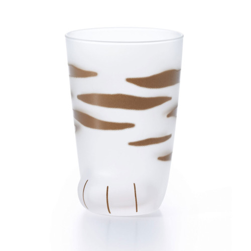 Coconeco Striped Cat Paw Glass Tumbler 9 fl oz