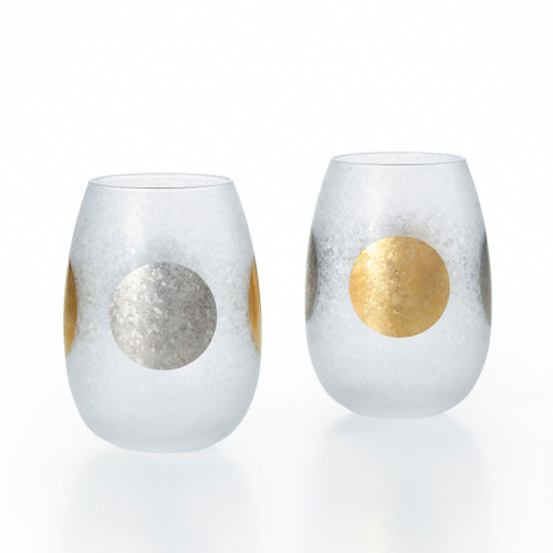 [New] Ishizuka Glass Sun-Moon Tumbler Pair 10.6 fl oz