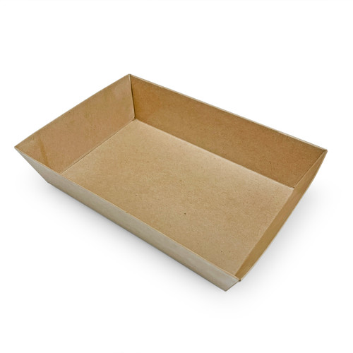 """Kraft Greaseproof Paper Take Out Sushi Tray 6.9"""" x 6.1"""" (400/case) - No Lids"""
