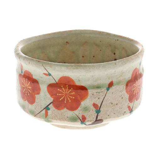 """[NEW] Matcha Tea Bowl Ume Blossoms 20 fl oz / 4.6"""" dia"""