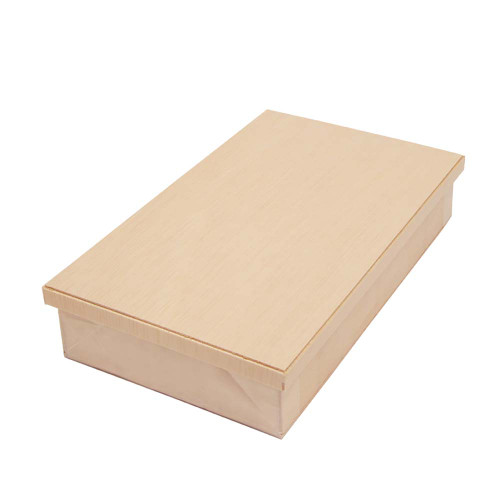 """[NEW] Wooden Rectangular Takeout Bento Box 7.5"""" x 4.5"""" (25/pack) - W/ Lid"""