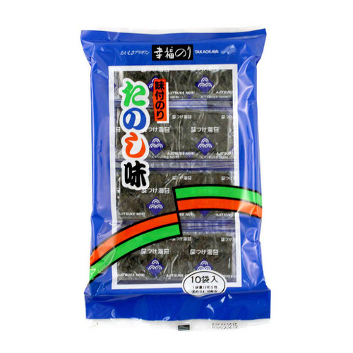 Takaokaya Ajitsuke Nori Seasoned Seaweed 0.36 oz (10g) 5 pcs of 10 packs