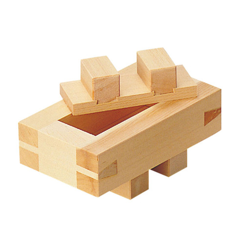 Hinoki (Japanese Cypress) Wooden Battera Rice Press Large