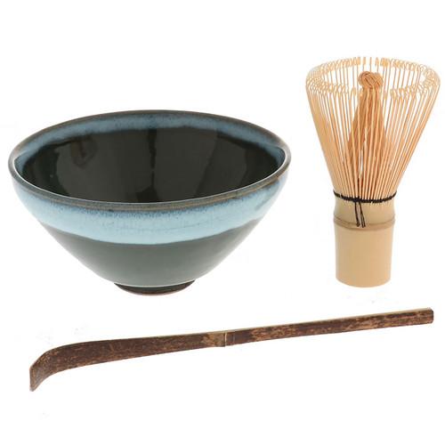[NEW] Ceremonial Matcha Tea Bowl Set Misty Forest