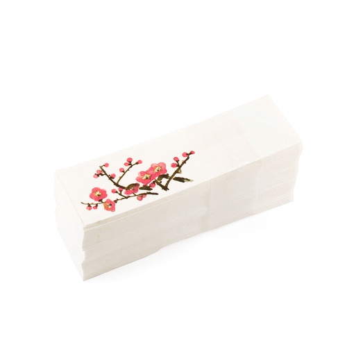 "Japanese Plum Flower Chopstick Sleeve 5"" Length (500/pack)"