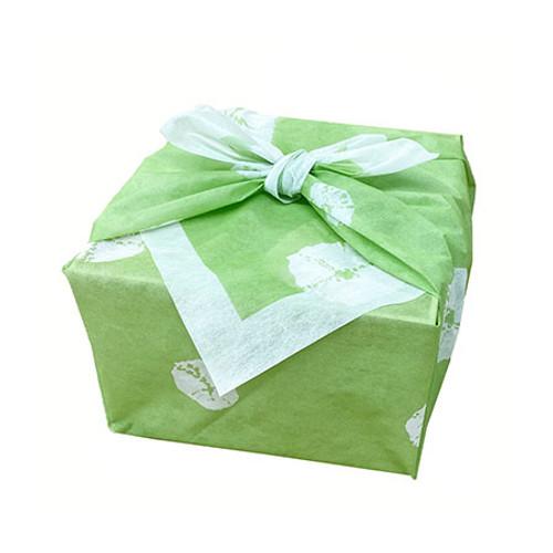 "Furoshiki Paper-Woven Wrapping Cloth Shibori Green 35.4"" x 35.4"" (20 pieces)"