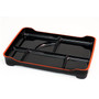 Black Combination Bento Platter with Red Trim