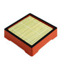 Red Soba Seiro Plate with Black Trim