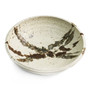 """Deep Abstract Ivory Plate 6.5"""" dia"""