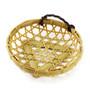 """Washable Round Faux Bamboo Basket 5.88"""" dia"""