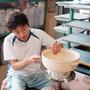 "Striped Donabe Earthenware Pot 115 fl oz / 9.5"" dia"