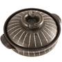 "Striped Donabe Earthenware Pot 30.5 fl oz / 6.25"" dia"