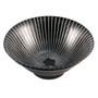 "Black Bowl with Stripes 31 fl oz / 7.64"" dia"