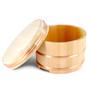 """Wooden Edobitsu Sushi Rice Jar - Ohitsu 13"""" dia"""