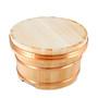 """Wooden Edobitsu Sushi Rice Jar - Ohitsu 10.63"""" dia"""