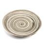 """Gray Swirl Plate 11.25"""" dia"""