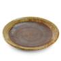 "Large Round Plate Haifuki Brown Ceramic 10.47"" dia"