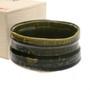 "Oribe Green Matcha Tea Bowl with Wooden Gift Box 21 fl oz / 5"" dia"