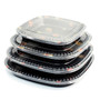 "TZ-400S Rounded Square Take Out Platter 14"" (60/case)"