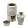 Seiji Brushstroke Ceramic Sake Konro for Warm Sake Set