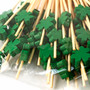 """Decorative Picks for Appetizers and Cocktails Green Leaf 4.72"""" (100/pack)"""