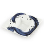 "Blue Brushstroke White Rimmed Square Kobachi Bowl 10 fl oz / 8.86"" x 8.86"""