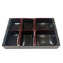 "Kokutan Paper Takeout Bento Box with 6-Compartment 10.8"" x 7.1"" (50 bento box sets)"