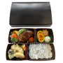 Kokutan Paper Takeout Bento Box with 4-Compartment