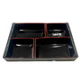 "Kokutan Paper Takeout Bento Box with 4-Compartment 10.8"" x 7.1"" (50 bento box sets)"