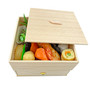 "Oribe Two Tiered PS Takeout Bento Box with a Drawer 5.1"" x 5.1"" x 3.5"" ht  (112 pcs/case)"
