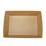 "Kraft Greaseproof Paper Take Out Sushi Tray 8.1"" x 7.2"" (300/case) - No Lids"