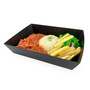 """Black Greaseproof Paper Take Out Sushi Tray 8.1"""" x 7.2"""" (300/case) - No Lids"""