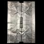 "No. 14 PE Plastic Takeout Bags Clear Flower Dots 15.4"" x 22.8"" (100 pcs/pack)"