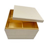 "Oribe Paper 2-Tiered Donjyu Takeout Bento Box White 5.9"" x 5.9"" (48 sets/case)"