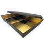 "Oribe Paper 6-Compartment Takeout Bento Box Black x Gold 11.6"" x7.75"" (40 sets/case)"