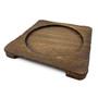 """Wooden Square Base 7.8"""" x 7.8"""" for Bibimbap Bowl (94520)"""