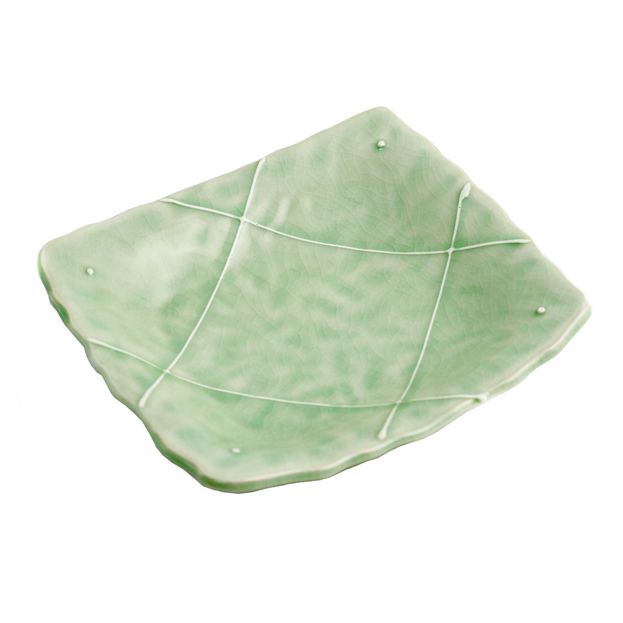 Clearance Cracked Jade Green Plate 6 65 X 6 02 Mtc Kitchen