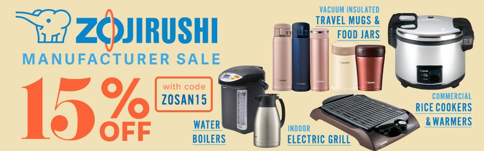 15% Off Zojirushi Rice Cookers Warmaers Travel Mugs