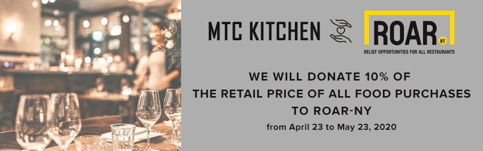 ROAR NY x MTC Kitchen partnership