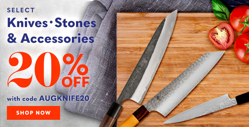 20% off Knives, Stones and Accessories