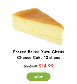 Frozen Baked Yuzu Citrus Cheese Cake 12 slices