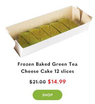 Frozen Baked Green Tea Cheese Cake 12 slices